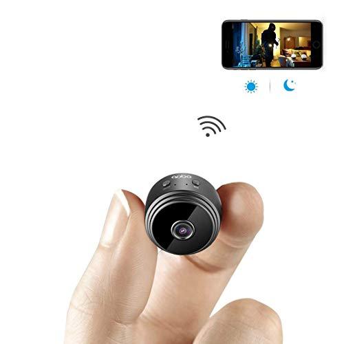 Cámara espía, aobo Wireless WiFi Cámara oculta Portable Mini Home Covert Cámara de seguridad Niñera Cam detección de...