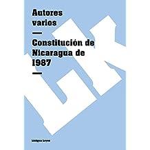 Constitución de Nicaragua de 1987 (Leyes) (Spanish Edition)