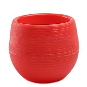 hosaire 1x jarrón de flores (plástico, tarros de almacenaje circulares casa jardín accesorios para el hogar de mesa decoración