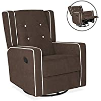 Best Choice Products Microfiber Tufted Upholstered Glider Recliner