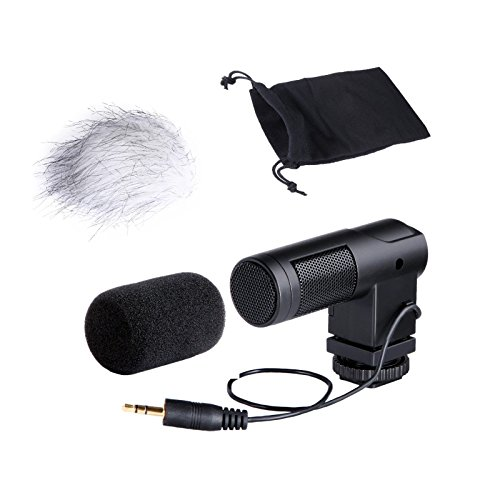 Movo Photo VXR260 Mini X/Y Stereo Condenser Video Microphone for DSLR Video Cameras