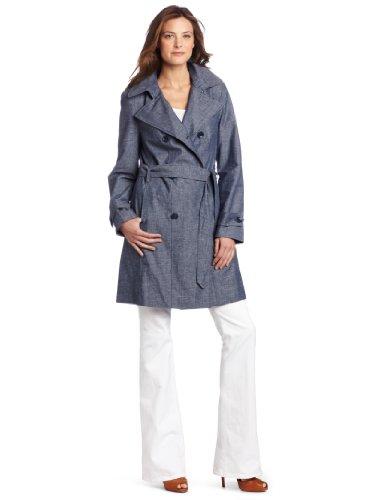 Calvin Klein Women's Faux Denim Trench Coat