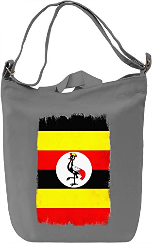 Uganda Flag Borsa Giornaliera Canvas Canvas Day Bag| 100% Premium Cotton Canvas| DTG Printing|