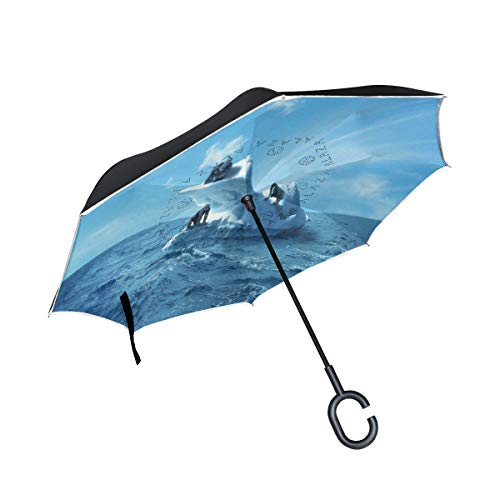 (Reverse Umbrella Gorillas Ice Windproof Anti-UV Protection for Car Outdoor)