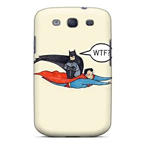 Nkc3743nuji Superman Carrying Batman Wtf Awesome High Quality Galaxy S3 Case Skin