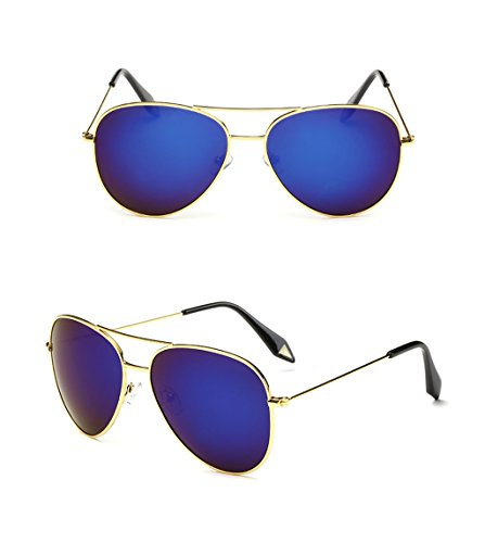 de protecciónn de sol personalidad Espejo Película Color polarizada Vintage 7 amp;Gafas Gafas Marco Lente de amp; Gran Gafas 7 X9 Gafas EC7qnw5