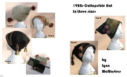 [1920s Collapsible Hat Pattern in 3 sizes] (1920s Womens Fashion Costumes)