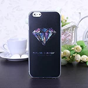 GJY Color Diamond Pattern TPU Soft Cover for iPhone 6