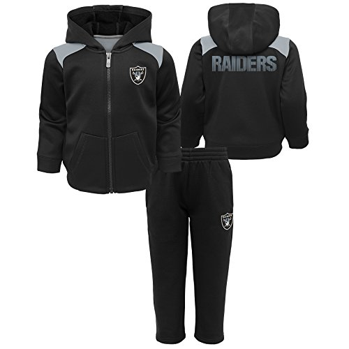 Outerstuff NFL Oakland Raiders Infant Play Action Performance Fleece Set, Black, 24 Months