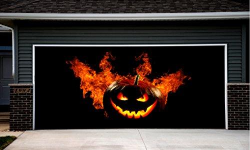 Halloween Decor for Garage Door Cover Outdoor Decorations of House Pumpkin Billboard Wall Banners (Halloween Decorations Garage Door)