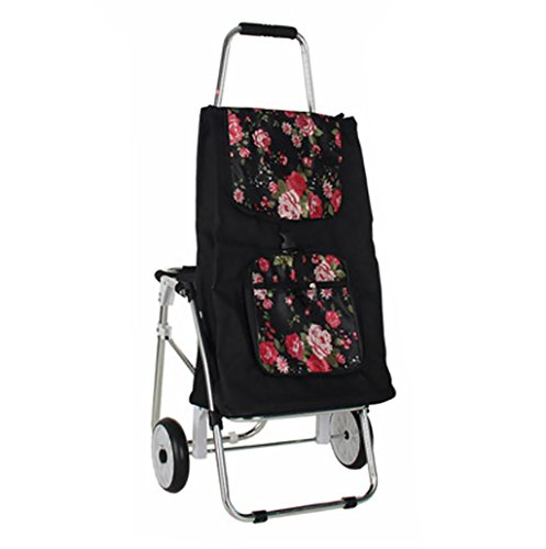 G&M Trolley Dolly with Seat, Shopping Grocery Foldable Cart Tailgate Lightweight Laundry, Shopping, Grocery , F by RulNet