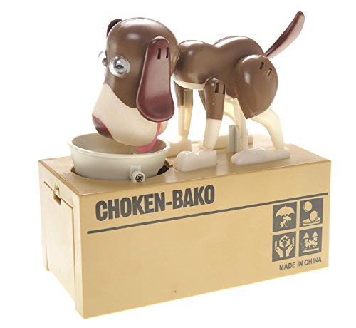 PowerTRC® Toy Figure Dog Piggy Bank (White (Puppy Coin Bank)