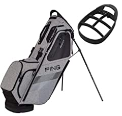 Make a name for yourself at the club with the PING 2018 Hoofer Stand Golf Bag. Easy-adjusting shoulder pads use SensorCool Technology to wick away moisture, partnering with the strap connector to provide the ultimate in carrying comfort and s...