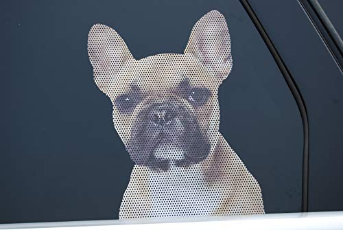 Doggie in the Window car and Truck Window Dog Decal - French Bulldog