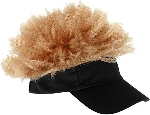 Afro Hat (Elope Gray and Blonde Afro Visor)