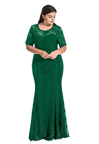 3x green dress - 1