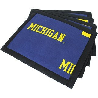 (Set of 8) - Michigan Wolverines Placemats w/ border - Great for the Kitchen, or that Next Picnic or Tailgate Party! - Save Big By Bundling! -