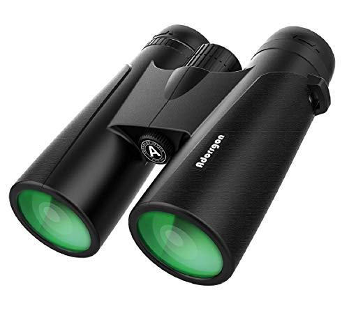 12x42 Powerful Binoculars with Clear Weak Light Vision - Lightweight (1.1 lbs.) Binoculars for Birds Watching Hunting Sports - Large Eyepiece Binoculars for Adults with BAK4 FMC Lens (Best Size Binoculars For Birding)