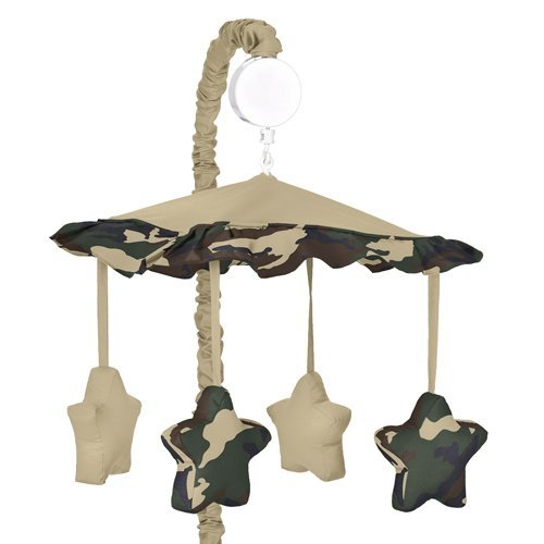 Camo Changing Pad Cover (Sweet Jojo Designs Musical Baby Crib Mobile - Green Camo Military Camouflage Army)