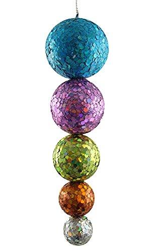 North Star Multi-Color Glitter & Sequin Disco Ball Drop Christmas Ornament (Northstar Ornament)