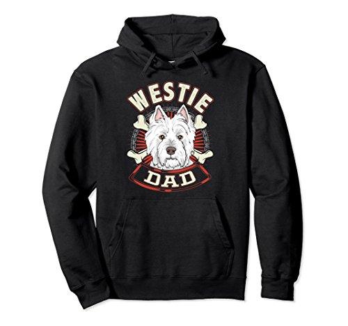 (Unisex Dog Breed Shirts for Men - Westie Dad sweatshirt Large Black)
