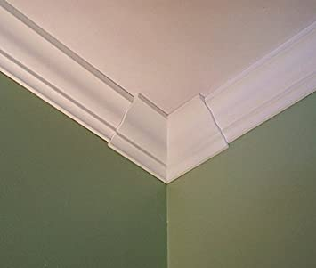 Amazon Com Crown Molding Corner Deco Low Profile Inside Fits 3 3 5 8 Inch Crown Molding Home Improvement