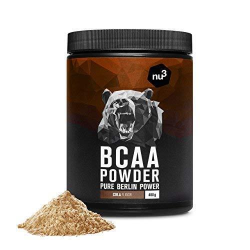 nu3 BCAA en polvo | 400g sabor sandía | 40 porciones de aminoácidos ramificados | Proporción óptima de leucina, isoleucina y valina en 2:1:1 | Suplemento ...