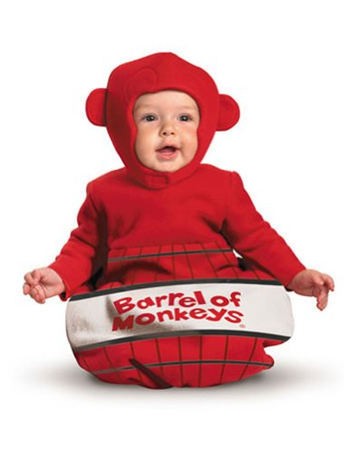 [Barrel of Monkeys Bunting Baby Infant Costume - Newborn] (Barrel Of Monkeys Infant Bunting Costumes)