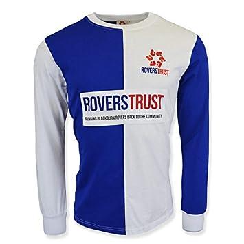 1aa0dae2 Nike Blackburn Rovers Trust Retro Football Soccer T-Shirt: Amazon.co ...
