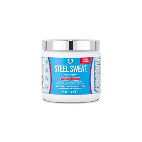 SteelFit, Steel Sweat Metabolic Catalyst + Energy, Helps Increase Fat Oxidation and Perspiration, 30 Servings (Cherry Lemonade)