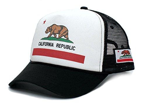 Custom California Republic State Flag Cali Unisex-Adult Trucker Hat Multi (State Flag Trucker Hat)