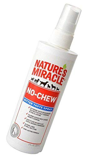 Nature's Miracle Products Just for Dogs No Chew Deter Spray, 8-Ounce
