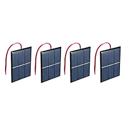 AMX3d Micro Mini Solar Cells Multipack– 1.5V 400mA Compact 80 x 60mmSolar Panels – Power Home DIY Projects, Toys & Battery Chargers, 4 Pcs