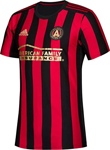 adidas Atlanta United FC Youth Replica Primary Jersey-Black/Red-L (Adidas Shirt Futbol)
