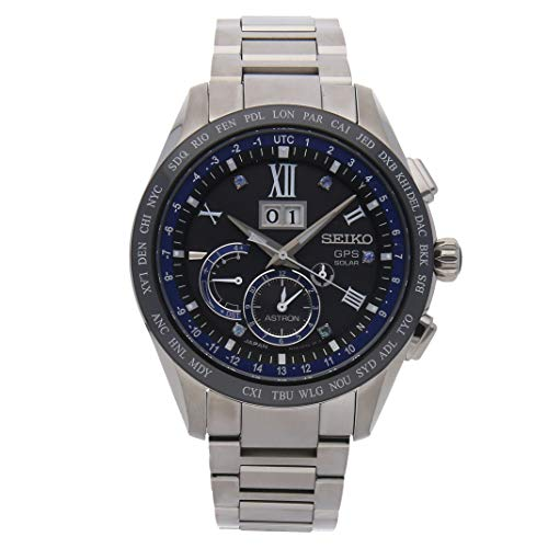 Seiko Astron GPS Solar Quartz (Battery) Black Dial Mens Watch SSE145 (Certified Pre-Owned) -  SSE145-CPO