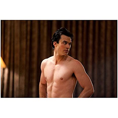 8003feffd443 The Vampire Diaries Damon Salvatore in Towel Played by Ian Somerhalder 8 x  10 inch Photo at Amazon s Entertainment Collectibles Store