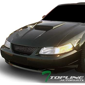 Topline Autopart Black Vertical Sport Front Hood Bumper Grill Grille Cover ABS 99-04 Ford Mustang