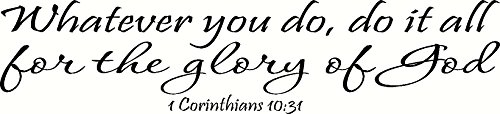 Corinthians 10 Whatever Glory Inspirational product image