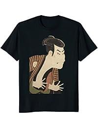 Sharaku Ukiyoe Japanese Actor Otani Oniji Retro Print Shirt