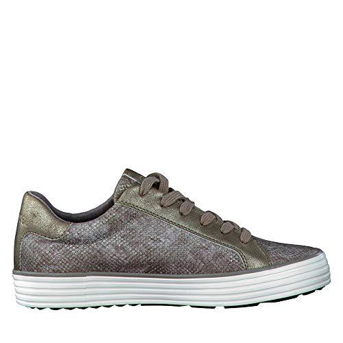 Mujer S 23615 Para metallic Zapatillas Grau oliver xffqwIrz