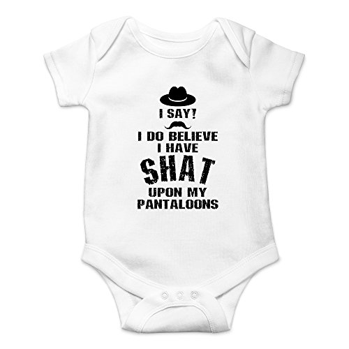 CBTWear I Do Believe I Have Shat Upon My Pantaloons Funny Cute Novelty Infant One-Piece Baby Bodysuit (12 Months, White) -