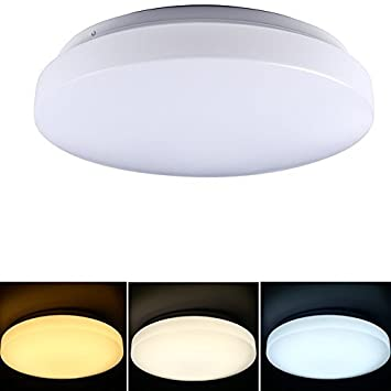 TryLight LED Ceiling LightingColor SwitchableLED Lamp10 Inchfor Living RoomBedroomand Dining Room3000K 6000K Color Temperature10 Watts