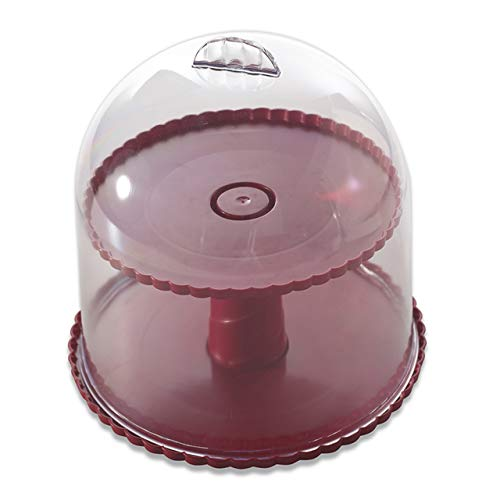 Nordic Ware Dessert Stand with Dome Lid (Glass Dome Cupcake Stand)