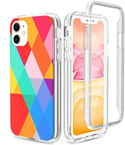 "FYY Case for iPhone 11 6.1"", Ultra Slim Full Body Case with Built-in Clear Screen Protector Shockproof Rugged Cover for iPhone 11 6.1 inch Dream Block"