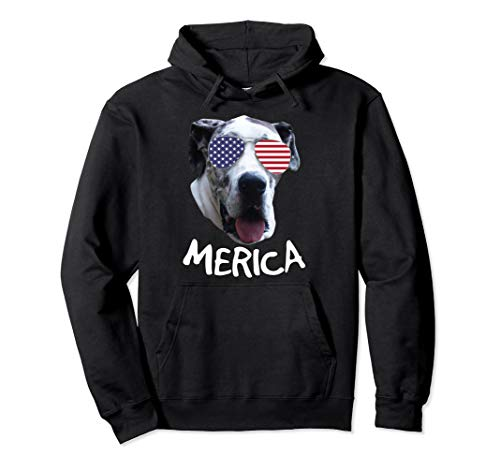 - Great Dane Independence Day Hoodie 4th of July