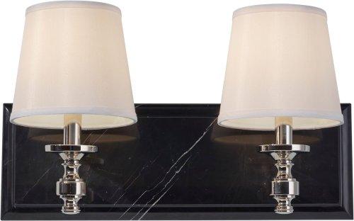 Feiss VS34002-PN 2-Bulb Vanity Strip Light Fixture, Polished Nickel Finish ()