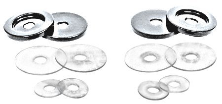 CRL Satin Chrome Replacement Washers for Back-To Back Solid Pull Handles