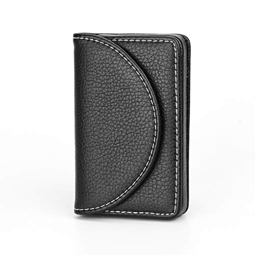 MaxGear Genuine Business Card Holders Leather Case RFID Credit For Men Women 25