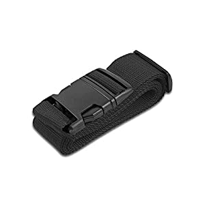 HeroFiber Black Luggage Belts Suitcase Straps Adjustable and Durable, Travel Case Accessories, 1 Pack