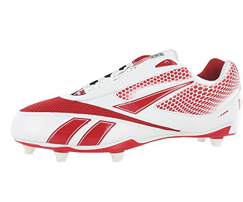 Reebok U-from 4 Speed Low Sd4 Football Men's Shoes Size 12.5 White/Red